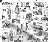 Landkarte, Landkarten, Reise, Abenteuer, Paris, Malbuch,