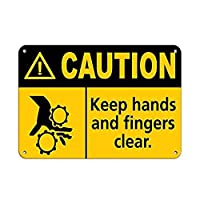 手と指を清潔に保つように注意してください。 警告 メタルポスタレトロなポスタ安全標識壁パネル ティンサイン注意看板壁掛けプレート警告サイン絵図ショップ食料品ショッピングモールパーキングバークラブカフェレストラントイレ公共の場ギフト