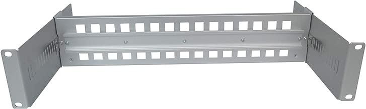 E-link 19inch Adjustable din Rail Terminal Blocks 35mm din Rail Mount Bracket Metal din mounting Rail din Rail Rack Mount for Industrial Media Convert