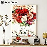 jzxjzx Peinture à l'huile sans Cadre Paysage décoration Florale Peinture à l'huile 10 40x50cm
