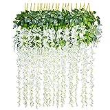 12 pcs/lot Fleurs Artificielles Décoration de la Maison chaque Mèche 110 cm artificiel Wisteria Fleur en soie pour mariage Décorations Home Garden Party Decor Fleur de simulation