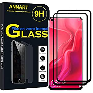 ANNART Pack of 2 Tempered Glass Screen Protector Films for Huawei Nova 4 6.4
