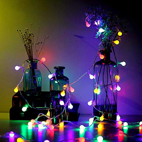 Global String Light 8 Models LED Fairy Light, Waterproof with Remote Control for Party Bedroom Living Room Patio (Multi-Coloured, 13m 100LED Plug in)