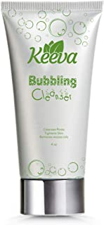 Keeva Organics Bubbling Facial Cleanser - Deep Cleaning Tea Tree Oil Formula with Proprietary Ingredients - For Severe Acne, Blemishes, Spots, Cystic Scars, and More - Face Wash or Body Wash