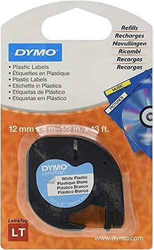 DYMO LT Etikettenband Authentisch | schwarz auf gelb | 12 mm x 4 m | selbstklebendes Kunststoffetiketten | für LetraTag-Beschriftungsgerät