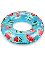 浮き輪 子供用 Oziral 浮輪 気筒不要 直径60cm 便利に携帯 可愛い スイカ 海水浴 プール 海フロート