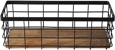 ZXY-NAN Aufbewahrungsbox Retro Wrought Iron Desktop Storage Box Sundries Basket Remote Control Cosmetics Kitchen Knife and Fo