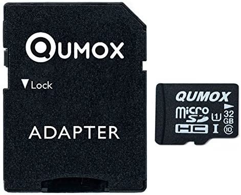 QUMOX 32GB Micro SD Memory Card Class 10 UHS-I 32 GB HighSpeed Write Speed 15MB/S Read Speed Upto 70MB/S