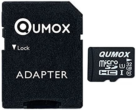 Qumox QX-MCSD-I-32G - Tarjeta microSD de 32 GB (Class 10, UHS-I), Color Negro