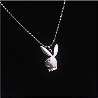 XBBH New Women Fashion Cute Long Ear Bunny Pendant Necklaces Charm Playboy Necklace Waist chain