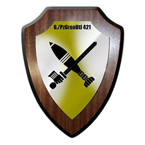 Copytec Wappenschild 6 PzGrenBtl 421 Panzergrenadierbataillon Lompanie Mörser Wappen Abzeichen Schwert Einehit Grenadier #21635