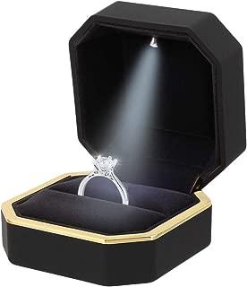 Orita Engagement Ring LED Light Ring Box Jewelry Gift Box Christmas Gift