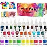 Tie Dye Kit, KNMY 32 Colori per Tessuti Permanenti a Cravatta Kit di Tinture per Tessuto, ...