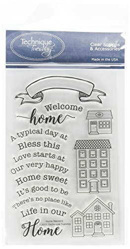 """Technique Tuesday Clear Stamps 4""""X6""""-Home Banners"""