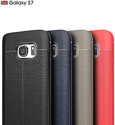 88dfa1af0b8 Funda Cuero para Samsung Galaxy S7 Carcasa Piel para Móvil Cover Case