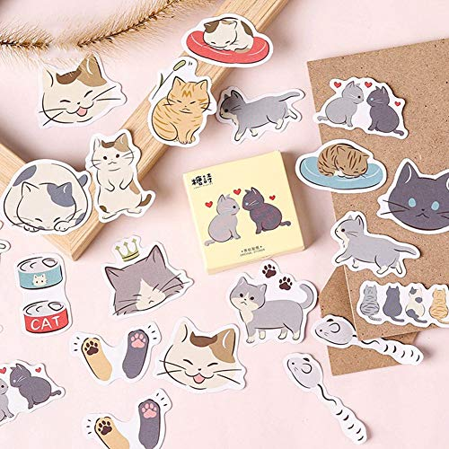 Mini Office Depot 45 Menge Nette Katze Briefpapier Sticker Scrapbooking Deko