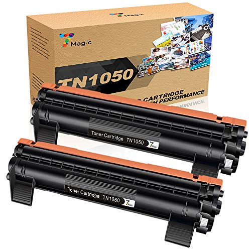 7Magic Cartuccia Toner Compatibile per Brother TN1050 per Brother DCP-1612W DCP-1510 DCP-1512 MFC-1810 MFC-1910W HL-1110 HL-1212W HL-1210W HL-1112 Stampante (2 Pacchi)