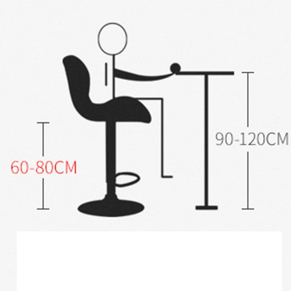 Tabouret de bar arrière moderne cuisine à manger tabouret en cuir artificiel en acier inoxydable tabouret de loisirs nouvelle chaise (Couleur : Beige) Red B
