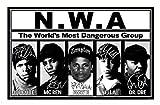 Ice Cube & MC Ren & Eazy E & Yella & Dr Dre - NWA Signiert
