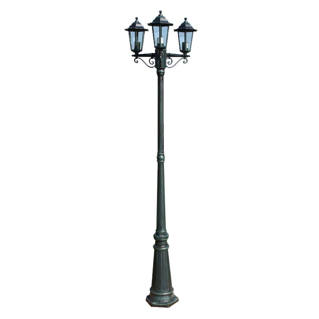 lingjiu Shopping Jardín Farol 215 cm Roman tico 60 W dunkelgr ¨ ¹ N/Negro Material: Aluminio Fundido Número faroles: 3 AU?enlampe: Amazon.es: Iluminación