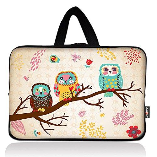 AUPET Cute Three Owls Universal 6~7 inch Tablet Portable Neoprene Zipper Carrying Sleeve Case Bag
