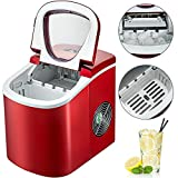 BuoQua 12KG Automatic Ice Maker Stainless Steel 220V Red Ice Cube Maker Machine