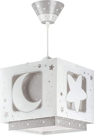 Dalber Lampe De Plafond   Suspension Carrée   Lune   Gris