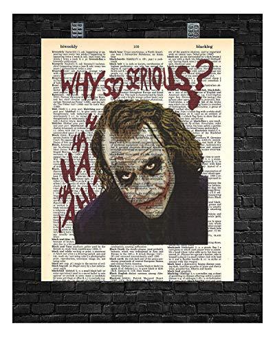 "Joker Wall Decor Joker""Why so serious"" Dictionary Art Print 8 x 10"