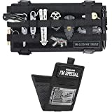 WYNEX Molle Visor Panel Organizer, Tactical Car Sun Visor Cover Molle Webbing Compatible Elastic Slots Vehicle Visor Storage Holder Pouch with 3 Elastic Strap Compatible F150 F550