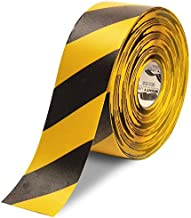 Mighty Line Diagonal Floor Tape 4 inch Yellow/Black 100' Roll