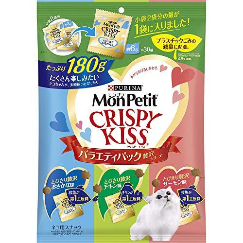 ネスレ モンプチ MonPetit 箱売り 猫用 クリスピーキッス バラエティーパック贅沢シリーズ 180g 12袋