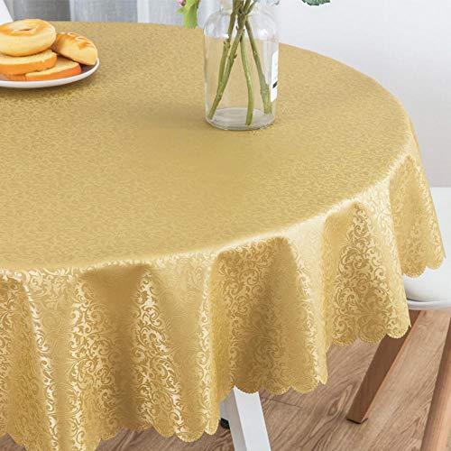 Haoxp multifunctionele tafelkleden, festivals, feesten, alle soorten plaatsen kunnen worden gebruikt, rond tafelkleed waterdicht en anti-fouling tafelkleed, 5 rond, 140 cm