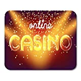 Mouse Pads Action Jackpot Online Casino Win Lettering Live Stage Mouse Pad for notebooks, Desktop Computers mats Office Supplies 10x12 Inch