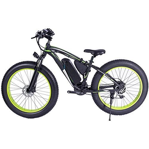 """D&XQX Bicicleta de montaña eléctrica, Bicicleta de Carretera 7 Speed Scooter Aleación de Aluminio con Forma de Perfil aerodinámico, Ambos Freno de Disco 26""""(36V 250W) Batería de Litio extraíble"""