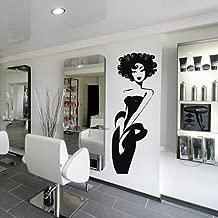 Wall Decal Vinyl Art Decor Sticker Design Stylist Master Hair Salon Beauty Fashion Poster Hairdryer Scissors Girl (M1061)