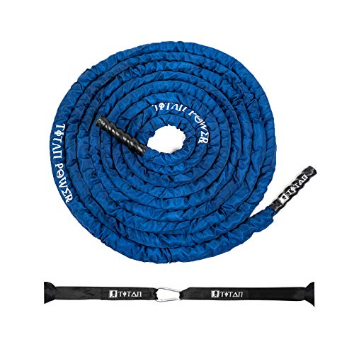 TITAN BATTLE ROPES with Protective Cover Sleeve | Reinforced Anchor