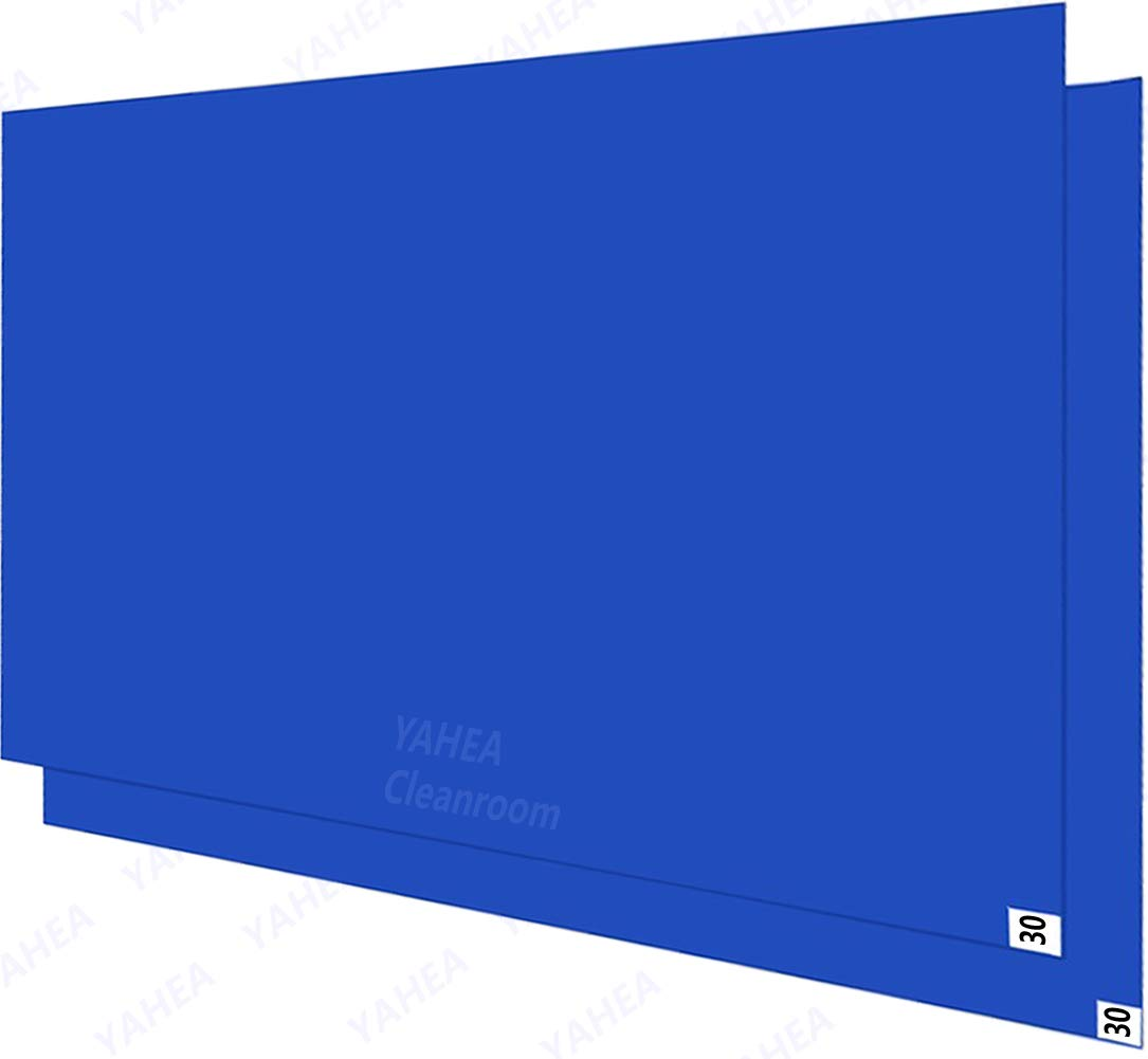 4 Pack 30 Layers,Tacky//Adhesive Mats for Construction Lab-Room Hospital,Super Sticky of Debris//Dust//Pet Fur 18/×36, Blue, 4 YAHEA 18/×36 Sticky Mats for Cleanrooms