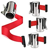 beiyoule 3M Queue Barrier Belt Retractable Ribbon Barrier Stainless Steel Wall Mount