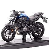Modelo coche 1/18 escala Maisto Mt-07 modelo motocicleta fundido y vehículos de juguete Yzr-m1 bicicleta carretera estrella carreras de niños regalo