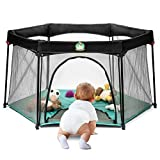 Portable Playard Play Pen for Infants and Babies - Lightweight Mesh Baby Playpen