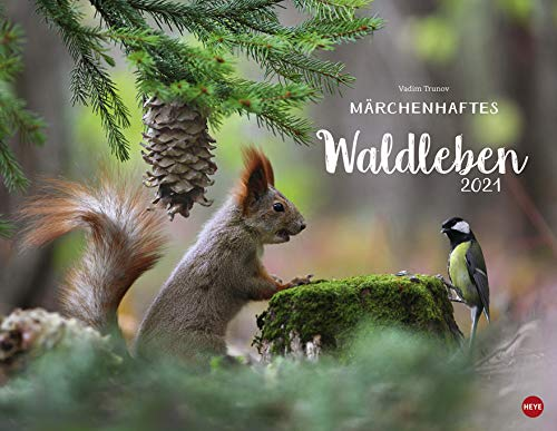 Märchenhaftes Waldleben - Kalender 2021 - Heye-Verlag - Vladim Trunov - Fotokalender - Wandkalender mit zauberhaften Naturfotos - 44 cm x 34 cm