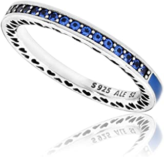 6dd9a3ee2 Pandora Women's Blue Radiant Hearts of Ring, Size 50 Jewelry 191011NCB-50