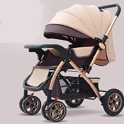 DAGCOT Cochecito de bebé Cochecito de viajes for el infante recién nacido del niño del cochecito de niño del cochecito plegable, compactos convertibles cochecitos, cesta del almacenaje, Seat de área y