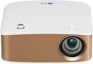 LG PH150G - Proyector Minibeam Portátil con batería incorporada (HD 1280x720, LED, contraste 100,000:1, 130 lúmenes) - Blanco [VERSION UK]