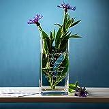 Casa Vivente Blumenvase mit Gravur zum Trost, Vase aus Echtglas, Deko Windlicht, Trauergeschenk für Verwandte und Freunde - 6