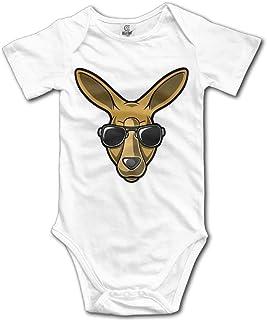 Tamianice Bodys Kängurubrille Neugeborene Babys Jungen & Mädchen Kurzarm Body Baby Onesie für 0-24 Monate Weiß