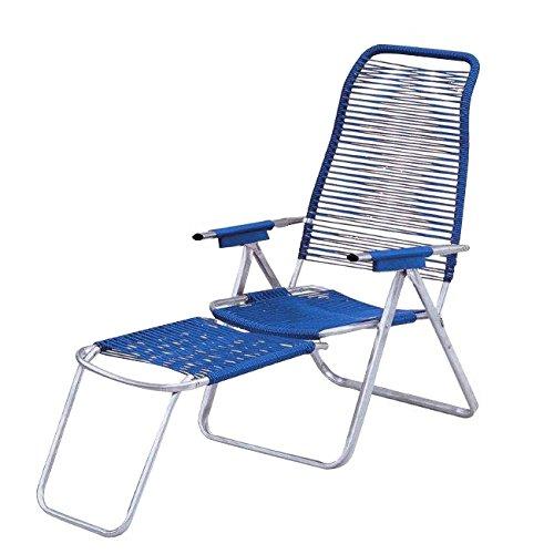 WEBMARKETPOINT Sdraio cordonata Schienale ergonomico Colore Blu
