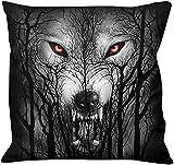 Spiral - Forest Wolf - Quadratisches Zierkissen