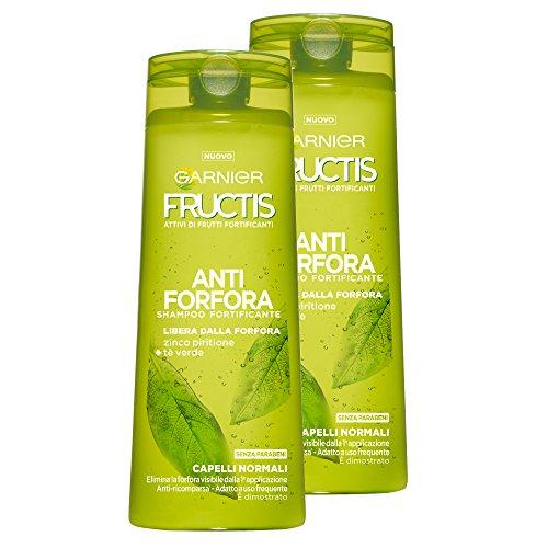 Garnier Fructis anti-roos shampoo voor normaal haar met zink-pyrithion en thee groen, zonder parabenen, 250 ml (verpakking van 2)