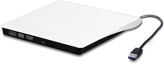 External DVD Drive USB 3.0 CD DVD +/-RW Writer/Burner/Rewriter Ultra Portable DVD Player for Various Brands of Laptops and Desktop Computers